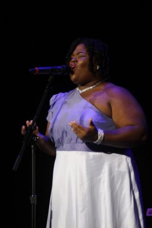 Ki'Ann Browne singing I Can Only Imagine.
