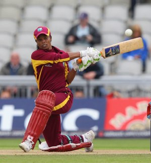 Merissa Aguilleira was the only batter to get a substantial score for the West Indies. (FP)