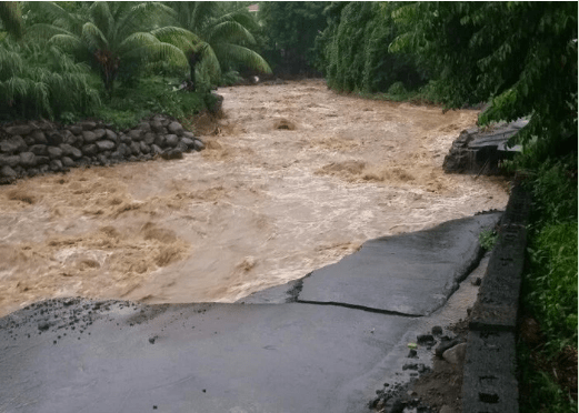Some roads were impassable as a result of the rains and floods.