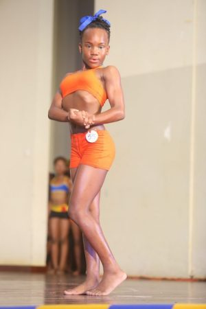 Zatari Collymore of Wilkie Cumberbatch Primary claimed the Junior Girls nine to 11 Bodybuilding title.