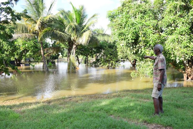 Rudy Boyce's property is also under water.