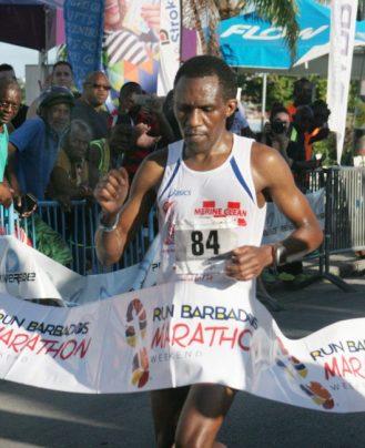 Jean Habararema of Martinique was first in the marathon.