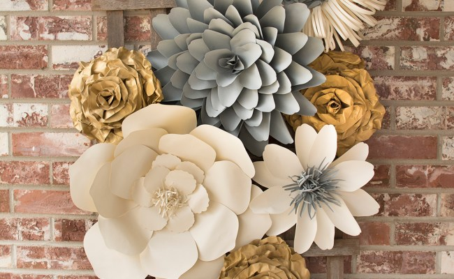 Large Paper Flower Wall Backdrop Barb Ann Designs
