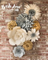 Large Paper Flower Wall Backdrop - Barb Ann Designs