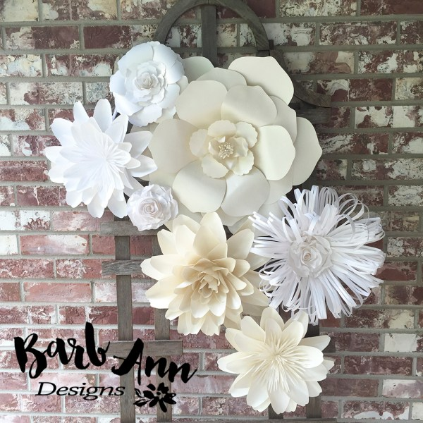 Large Paper Flowers Wall Decor