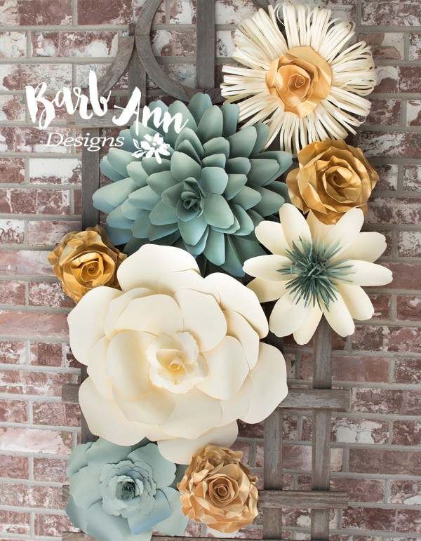 Large Paper Flower Wall Backdrop