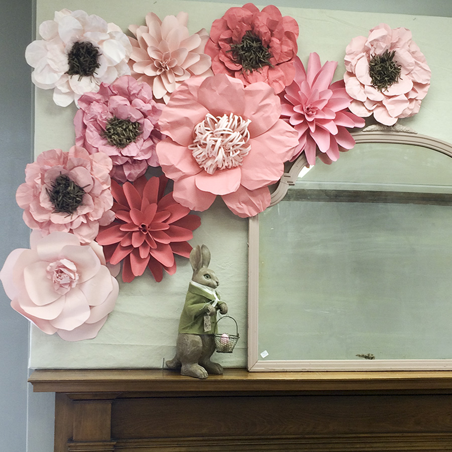 paper flower set original   Barb Ann Designs  