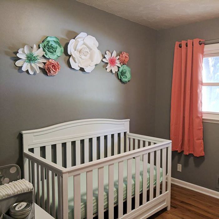 Paper Flowers Take Center Stage In Nursery Decor