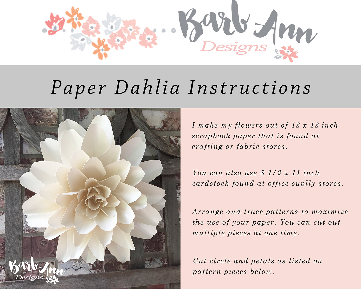 dahlia paper flower tutorial