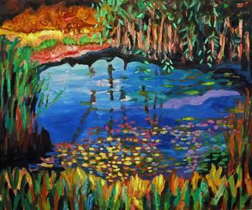 Am Wasser, 2010, 125x150cm, Öl auf Leinwand