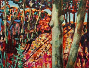 Bäume, 2010, 125x165cm, Oel auf Leinwand