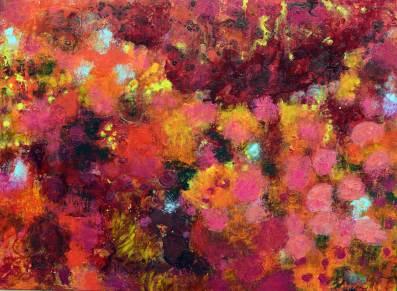 Blütenfeld 2, 2017, 80x110cm, Acryl auf Leinwand