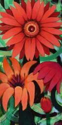 Blütenzauber 2, 2014, 100x50cm, Mischtechnik auf Leinwand