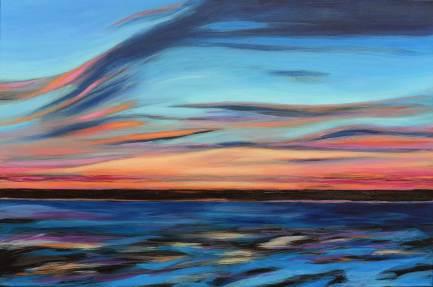 Himmel und Meer, 2014, 60x90cm, Acryl auf Leinwand