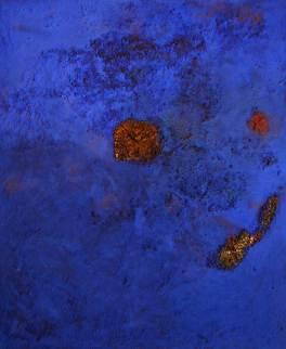 Luft Bild 1, 1992, 200x163cm, Erde, Steine, Pigment auf Leinwand