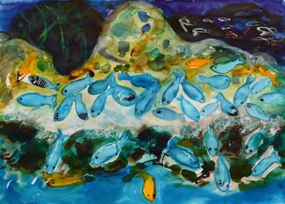 Unter Wasser, 2007, 50x70cm, Tusche auf Papier