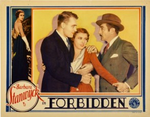 Forbidden (1932) lobby card