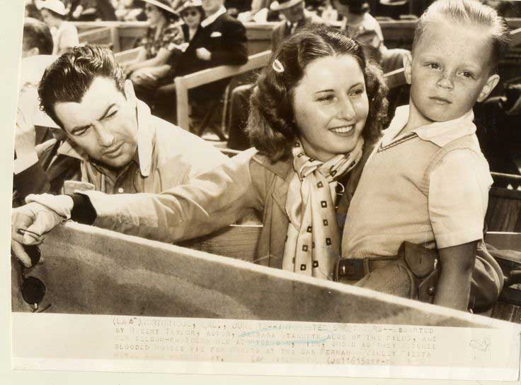 Barbara Stanwyck Biography: with Robert Taylor, and Dion at a horse fair