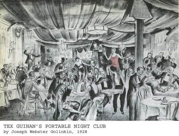 A Texas Guinan 1920s Speakeasy Illustration