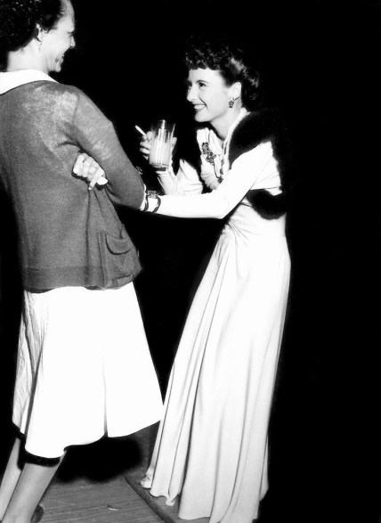 Stanwyck and Harriet on the set of You Belong to Me (1941)
