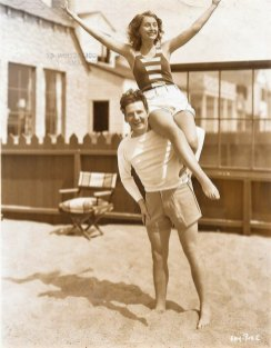 Stanwyck and Fay in their Malibu home