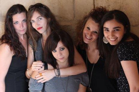 Da sinistra: Arianna Gambaccini, BB, Marenza Gagliani, Valentina Vinci e Anita Book