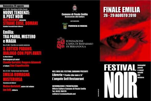Programma Festival Noir Finale Emilia 2010