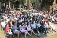 Il pubblico dell'evento: i ragazzi delle scuole della Valtenesi