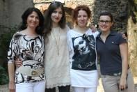 Con lo staff della rete delle biblioteche valtenesi: Maria, Francesca, Federica