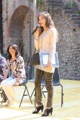 Con Maria Mele, durante il mio intervento