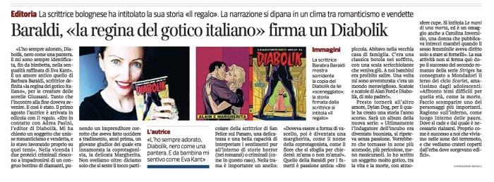 Articolo Corriere Diabolik