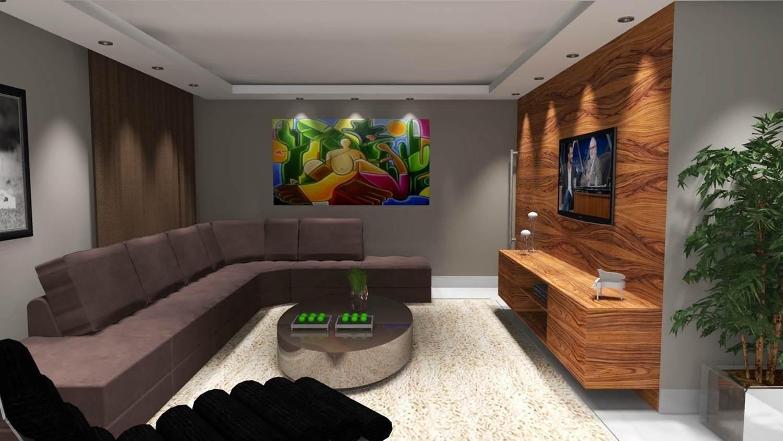 Decorao de Sala de Estar  Barbara Borges Projetos 3D