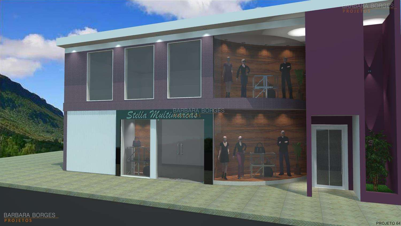 Projetos de Lojas Barbara Borges Projetos 3D
