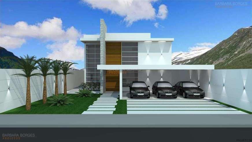 Fachadas de Casas | Barbara Borges Projetos 3D