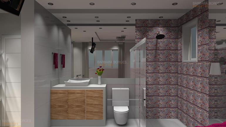 Banheiros Modernos  Barbara Borges Projetos