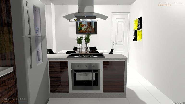 Cozinha Planejada Apartamento  Barbara Borges Projetos