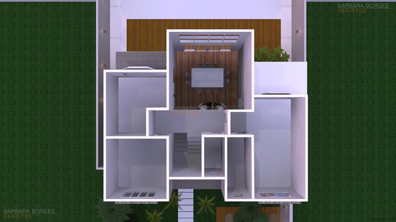 Planta Casa 2 Suites 1 Quarto  Barbara Borges Projetos