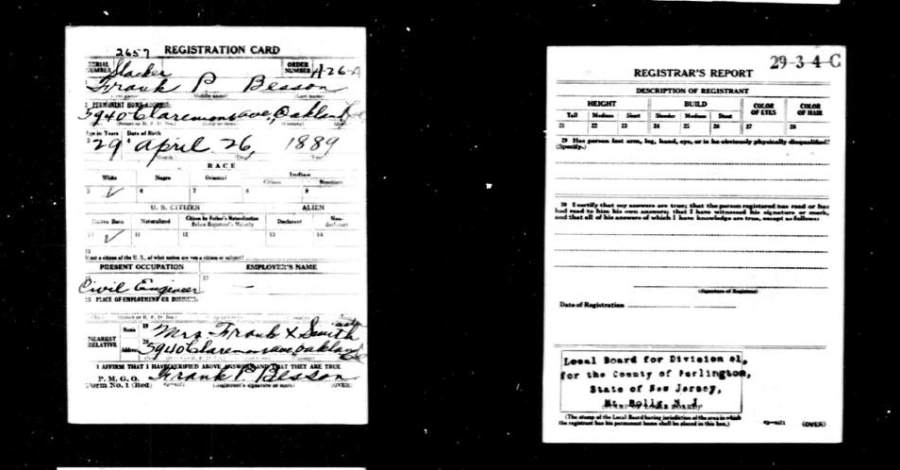 More about Draft Registration Cards from World War I and World War II