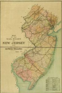 New Jersey Railroads 1887