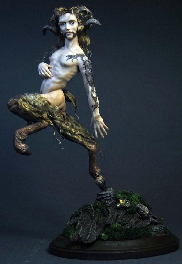 Ooak Art Doll Male Carousel Horse Fairy Steampunk