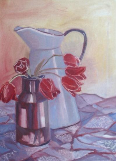Tulips and jug