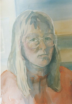 self portrait watercolour