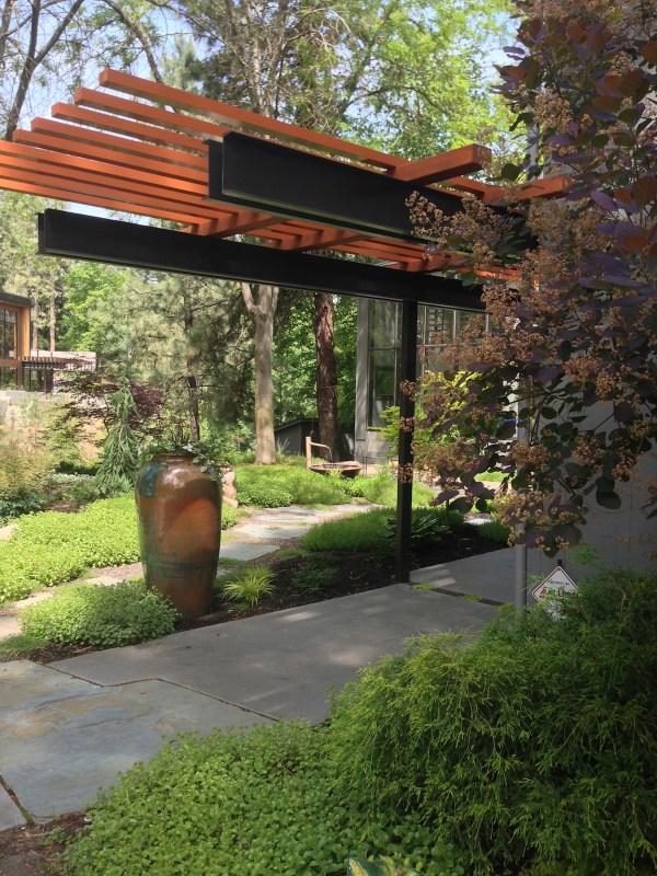 modern woodland garden design