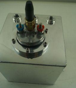 1.5 Litre Swirl Pot/Tank to fit Bosch 044 Type Fuel Pump, Polished Aluminium