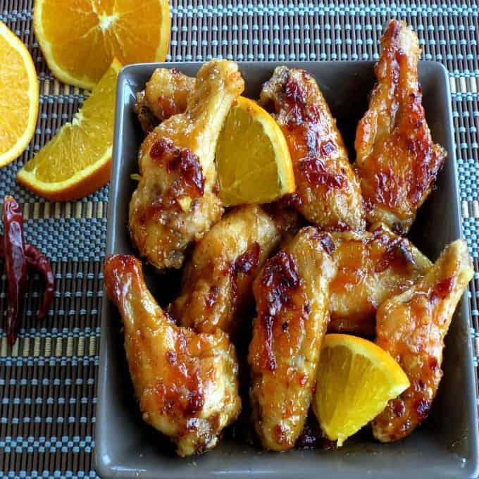 Orange Chipotle Chicken Wings