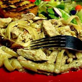 Grilled Chicken Carbonara