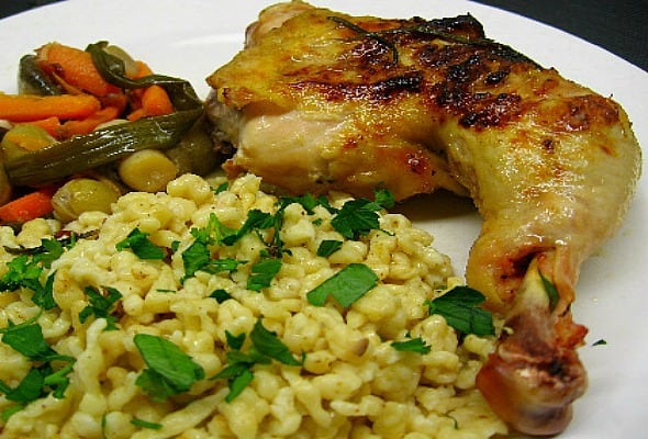 Grilled Chicken in Wine