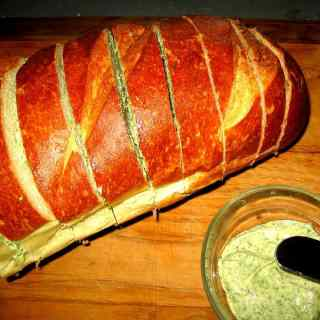 Grilled Italian Bread with Herb Butter
