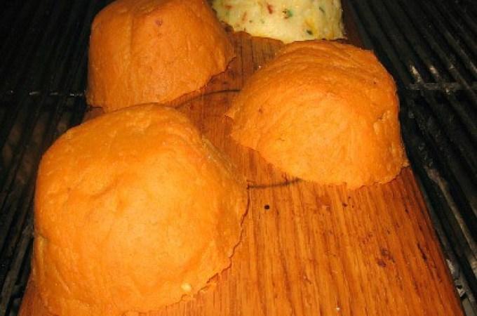 Plank Smoked Sweet Potatoes