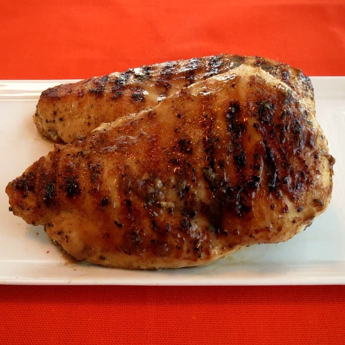 Maple Mustard Grilled Chicken Breasts